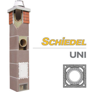 Schiedel UNI готовый комплект одноходового дымохода без вентиляции