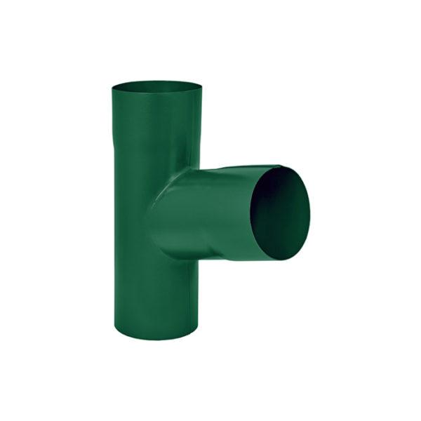 Aquasystem тройник трубы зеленый RAL6005