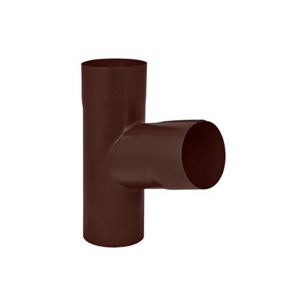 Aquasystem тройник трубы коричневый RAL8017