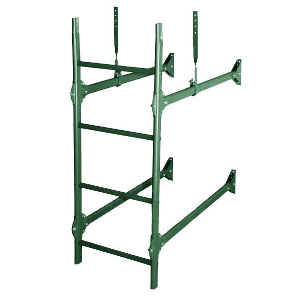 Стеновая лестница престиж RAL6005