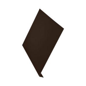 L-профиль металлический 2 метра Aquasystem Pural темно-коричневый 32