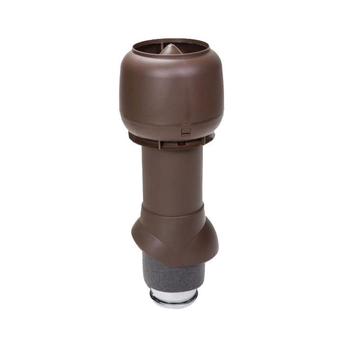 Вентиляционный выход утепленный 125/ИЗ/500 vilpe коричневый