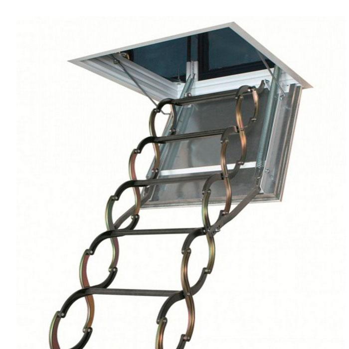 Чердачная лестница LSF Fakro металлическая огнестойкая
