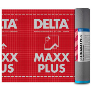 Энергосберегающая диффузионная мембрана DELTA-MAXX PLUS с самоклеящейся лентой для гидроизоляции кровли
