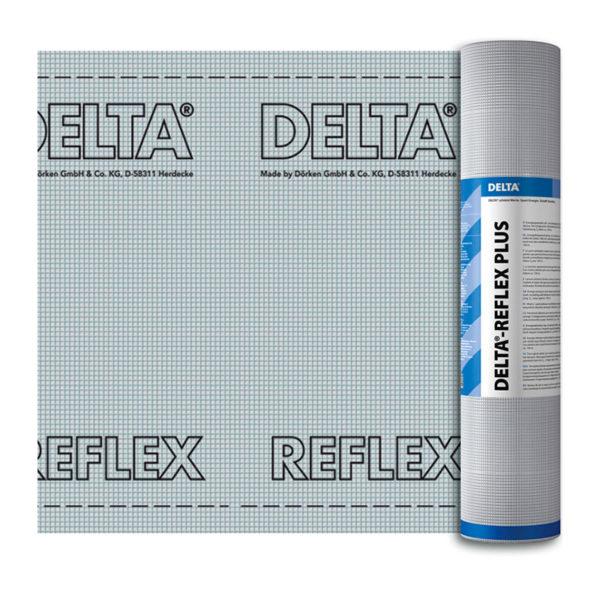 Пленка с алюминиевым рефлексным слоем для кровли DELTA-REFLEX для пароизоляции кровли
