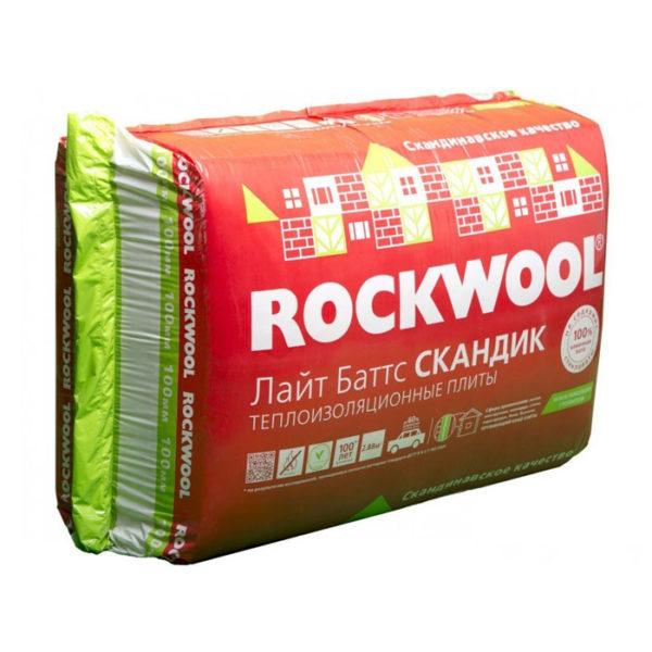 ROCKWOOL Лайт Баттс Скандик толщина 100 мм базальтовый утеплитель