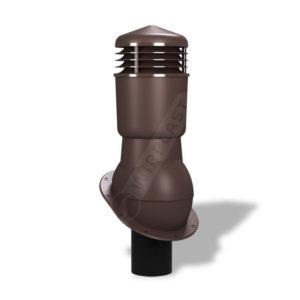 Вентиляционный выход 125/110 Wirplast WiroVent Plus К89 для битумной кровли коричневый