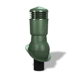 Вентиляционный выход 125/110 Wirplast WiroVent Plus К89 для битумной кровли зеленый
