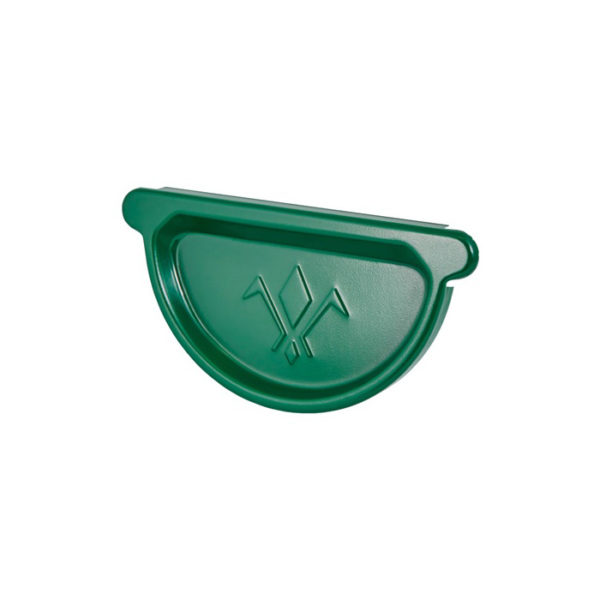Aquasystem заглушка желоба зеленый RAL6005