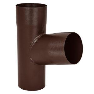 Aquasystem тройник трубы коричневый RAL8017 PURAL MATT