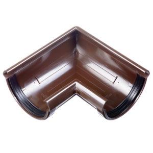 Docke Люкс угол желоба 90 градусов универсальный коричневый