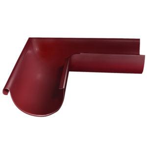 Grand Line угол желоба внешний 90 градусов Ø125/90 мм RAL 3005 красное вино