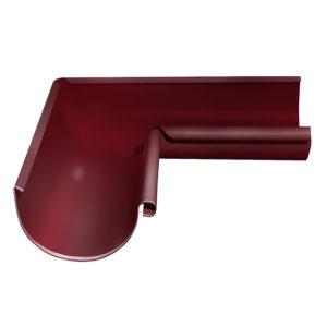 Grand Line угол желоба внутренний 90 градусов Ø125/90 мм RAL 3005 красное вино