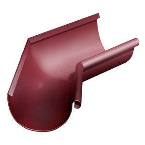Grand Line угол желоба внутренний 135 градусов Ø125/90 мм RAL 3005 красное вино