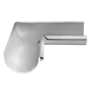 Grand Line угол желоба внутренний 90 градусов Ø125/90 мм RAL 9003 сигнальный белый