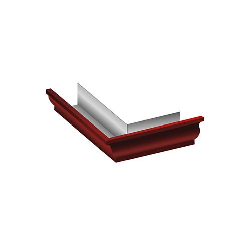 МП Модерн угол желоба внешний 90 градусов красный RAL363