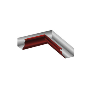МП Модерн угол желоба внутренний 90 градусов красный RAL363