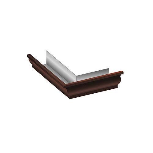 МП Модерн угол желоба внешний 90 градусов коричневый RAL8017