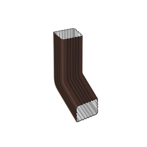 МП Модерн колено трубы коричневый RAL8017