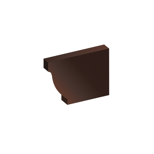 МП Модерн заглушка желоба коричневый RAL8017