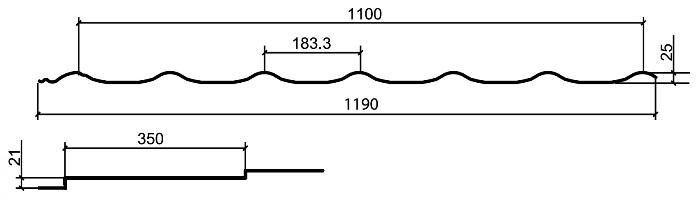 Металлочерепица МП СуперМонтеррей