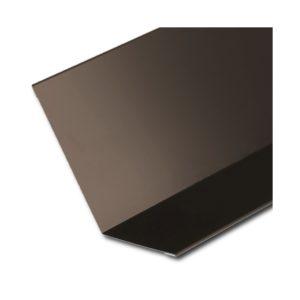 Планка примыкания верхняя темно-коричневый RR32