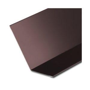Планка примыкания верхняя коричневый RAL8017