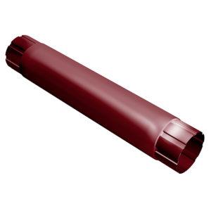 Grand Line труба водосточная соединительная 1 метр Ø125/90 мм RAL 3005 красное вино