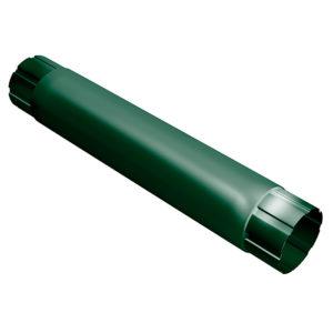 Grand Line труба водосточная соединительная 1 метр Ø125/90 мм RAL 6005 зеленый мох