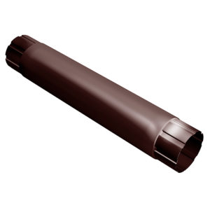 Grand Line труба водосточная соединительная 1 метр Ø125/90 мм RAL 8017 шоколад