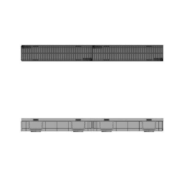Комплект Gidrolica Light DN90 лоток пластиковый с решеткой пластиковой H95