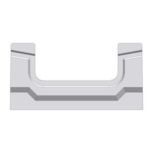 Лоток Gidrolica BGF DN100 бетонный H80