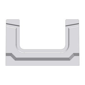 Лоток Gidrolica BGF DN100 бетонный H100