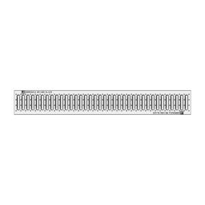 Решетка водоприемная Gidrolica Standart DN100 штампованная из нержавеющей стали