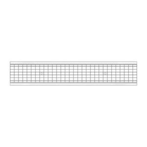 Решетка водоприемная Gidrolica Standart DN150 ячеистая стальная