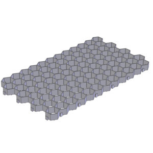 Газонная решетка пластиковая 700 х 400 мм