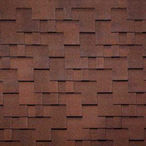 Tegola Nobil Tile коллекция Акцент красно-коричневый