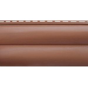 Альта Профиль сайдинг Блок Хаус BH-03 акриловый красно-коричневый