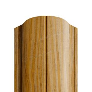 Металлический штакетник МП ELLIPSE золотой дуб