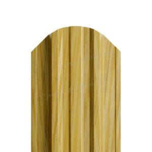 Металлический штакетник МП TRAPEZE золотой дуб