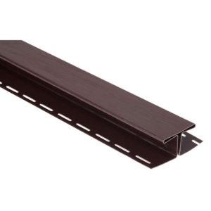 Н-профиль стыковочный Альта Профиль Блок Хаус коричневый