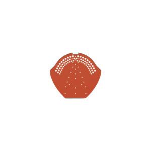 Коньковый торцевой элемент универсальный красный