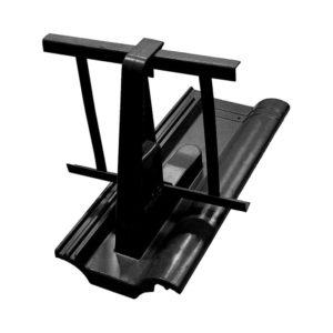 Комплект для крепления снегозадерживающей решетки Braas черный