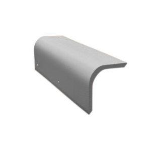 Боковая цементно-песчаная черепица Braas серый