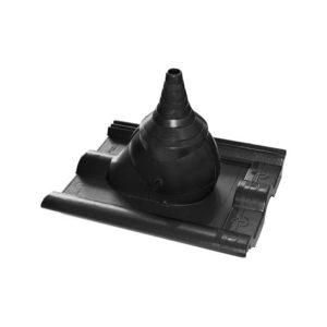 Комплект для прохода антенны/кабеля Braas черный