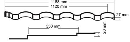 Металлочерепица Grand Line Kredo