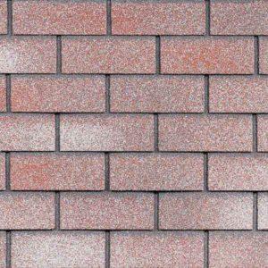 Технониколь Шинглас фасадная плитка Hauberk кирпич мраморный