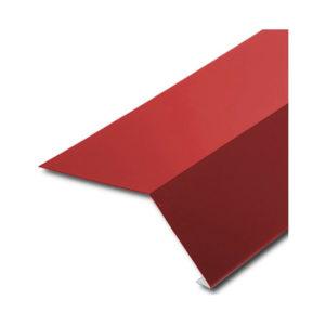Планка карнизная для битумной черепицы красный