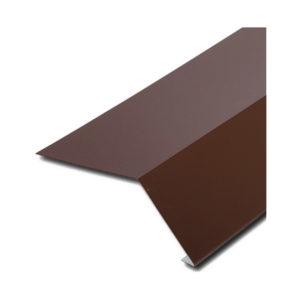 Планка карнизная для битумной черепицы коричневый
