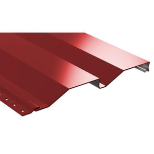 Корабельная доска металлический сайдинг красный 3011